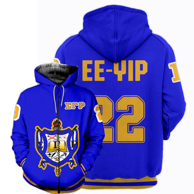 3D ALL OVER SIGMA GAMMA RHO HOODIE 3172019