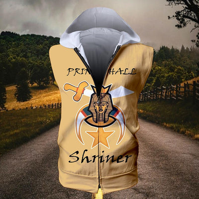 Shriners Sleeveless Zip Hoodie 080620206