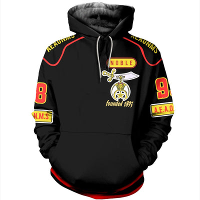 3D ALL OVER SHRINERS HOODIE 732019