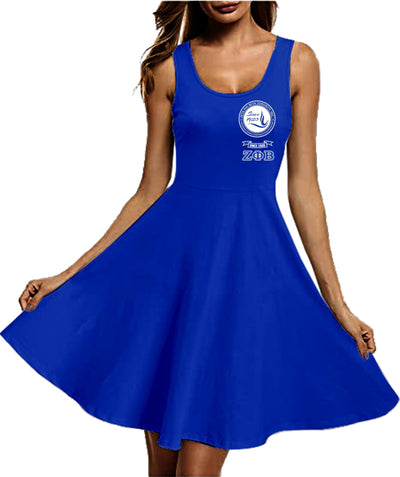 ZETA PHI BETA Racerback Skater Dress 17820202