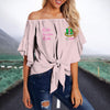 ALPHA KAPPA ALPHA TIE KNOT OFF SHOULDER SHIRT