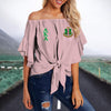 ALPHA KAPPA ALPHA TIE KNOT OFF SHOULDER SHIRT 1