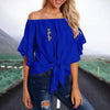 SIGMA GAMMA RHO TIE KNOT OFF SHOULDER SHIRT 1