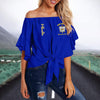 SIGMA GAMMA RHO TIE KNOT OFF SHOULDER SHIRT 2