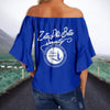ZETA PHI BETA TIE KNOT OFF SHOULDER SHIRT 1