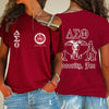 Delta Sigma Theta One Shoulder Shirt 2432020