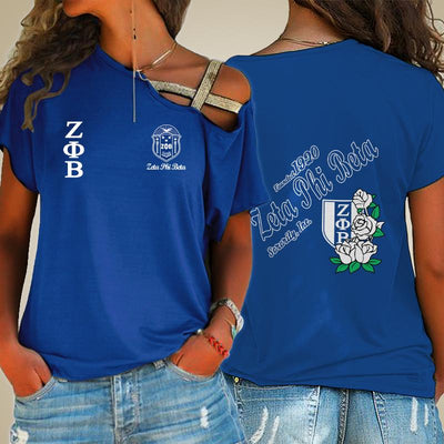 Zeta Phi Beta One Shoulder Shirt 2432020