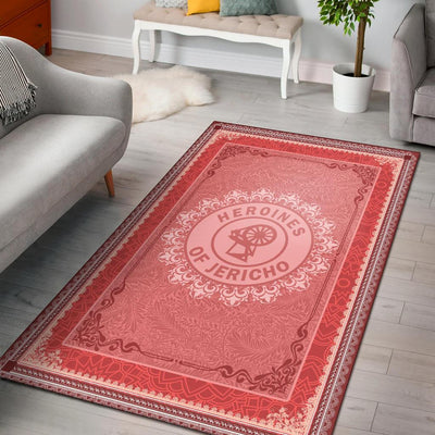 heroines of Jericho area rug