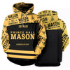 3D ALL OVER FREEMASONRY HOODIE 25620191