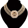 women fashion Big statement choker Delta Sigma Theta Pearl necklace Set Jewelry