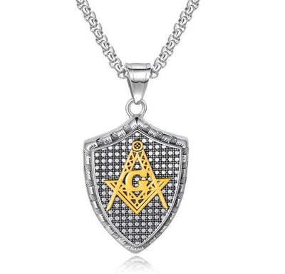 Stainless steel fashion vintage masonic necklace