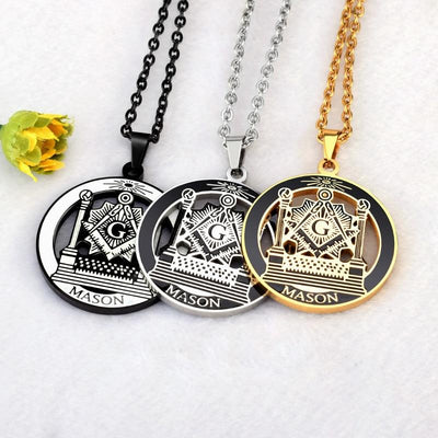 Stainless Steel Past Master Freemasonry Necklaces