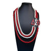 Multilayer Statement Jewelry Delta Sigma Theta Pearl Necklace