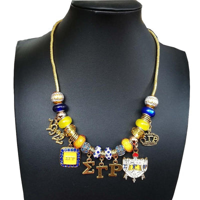 Pendant statement rhinestone Sigma Gamma Rho choker charm Necklace Jewelry