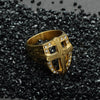 Titanium Stainless Jewelry Gold Steel Knights Templar Rings