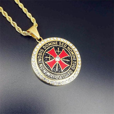 Necklace Stainless Steel Knights Templar Necklaces