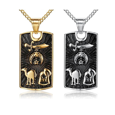 stainless steel freemason shriner pendants necklaces