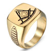 Gold Color Stainless Steel Masonic Ring