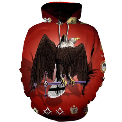 3D ALL OVER SCOTTISH RITE HOODIE T SHIRT 26420193