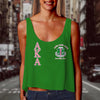 ALPHA KAPPA ALPHA WOMEN CROP TANK TOP