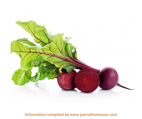 Beetroot and beetroot greens safe for parrots