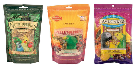 Lafeber NutriBerries, PelletBerries, AviCakes
