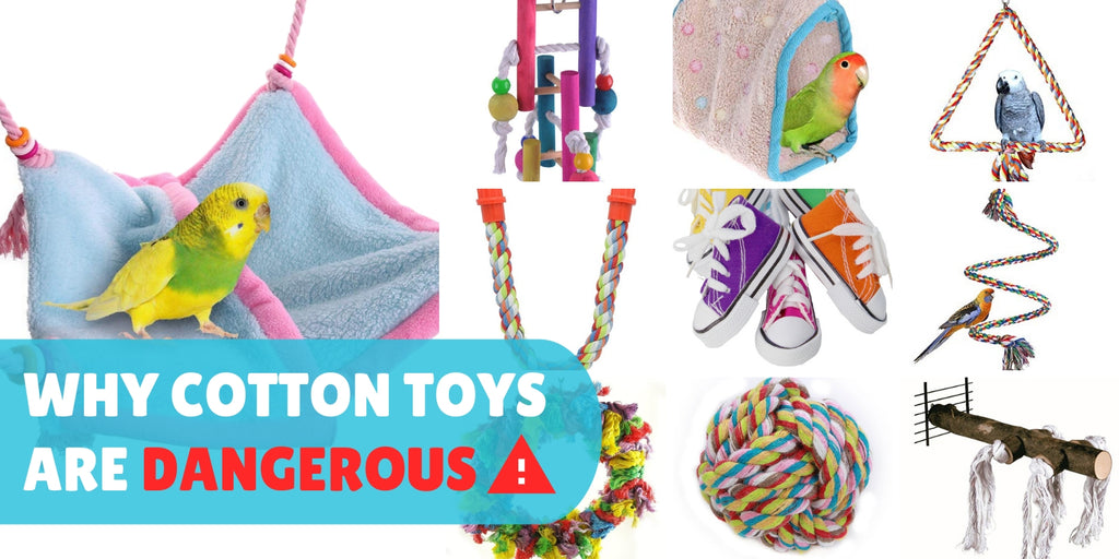 Cotton toys perches happy huts fabric tents are unsafe for birds parrots
