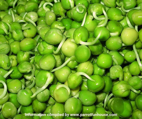 Whole green pea sprouts safe for birds