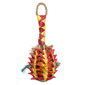 Woven Wonders Small Foraging Pineapple bird toy Parrot Funhouse