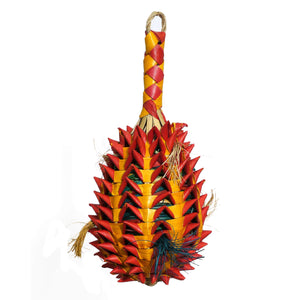 Woven Wonders Large Foraging Pineapple 10x10x26cm Parrot Funhouse
