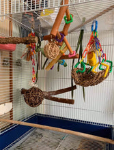 Load image into Gallery viewer, Regular seagrass hammock in bird cage Parrot Funhouse
