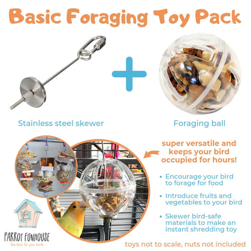 Basic foraging Toy Pack Parrot Funhouse