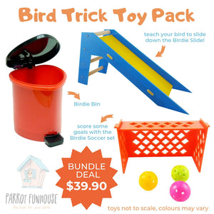 Bird Trick Toy Pack Parrot Funhouse