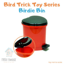 Load image into Gallery viewer, Bird Trick Toy Birdie Bin 8x10cm Parrot Funhouse