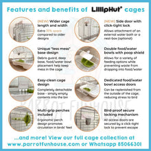 Load image into Gallery viewer, LillipHut M02 cage for small parrots