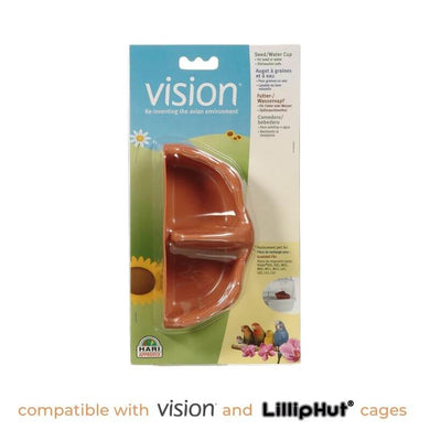 Food/water cups for Vision/LillipHut cages (3 colours)