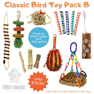 Classic Bird Toy Pack B Parrot Funhouse