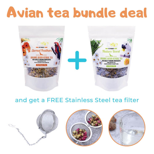 Pollys Natural Organic Avian Herbal Tea Bundle Deal