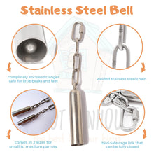 Load image into Gallery viewer, (RESTOCK) Stainless Steel Birdie Bell (2 sizes)