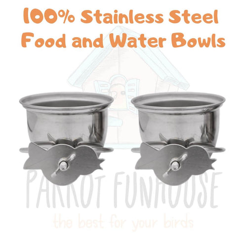 Stainless Steel Food and Water Bowls (Set of 2)