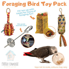Load image into Gallery viewer, Foraging Bird Toy Pack Parrot Funhouse