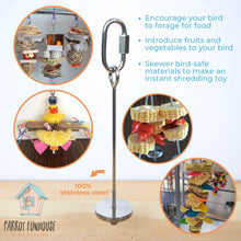 Load image into Gallery viewer, Stainless steel skewer 12cm Parrot Funhouse