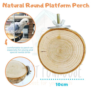 Natural Round Platform Perch