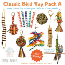 Load image into Gallery viewer, Classic Bird Toy Pack A Parrot Funhouse