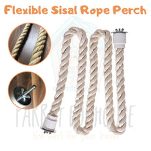 Load image into Gallery viewer, Flexible Sisal Rope Perch (2 sizes)