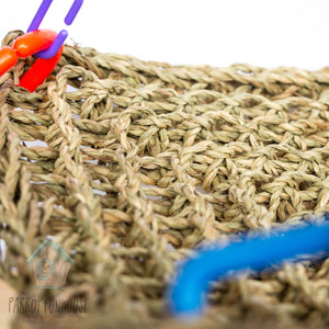 Close up Material Regular 18x18cm seagrass hammock bird toy Parrot Funhouse