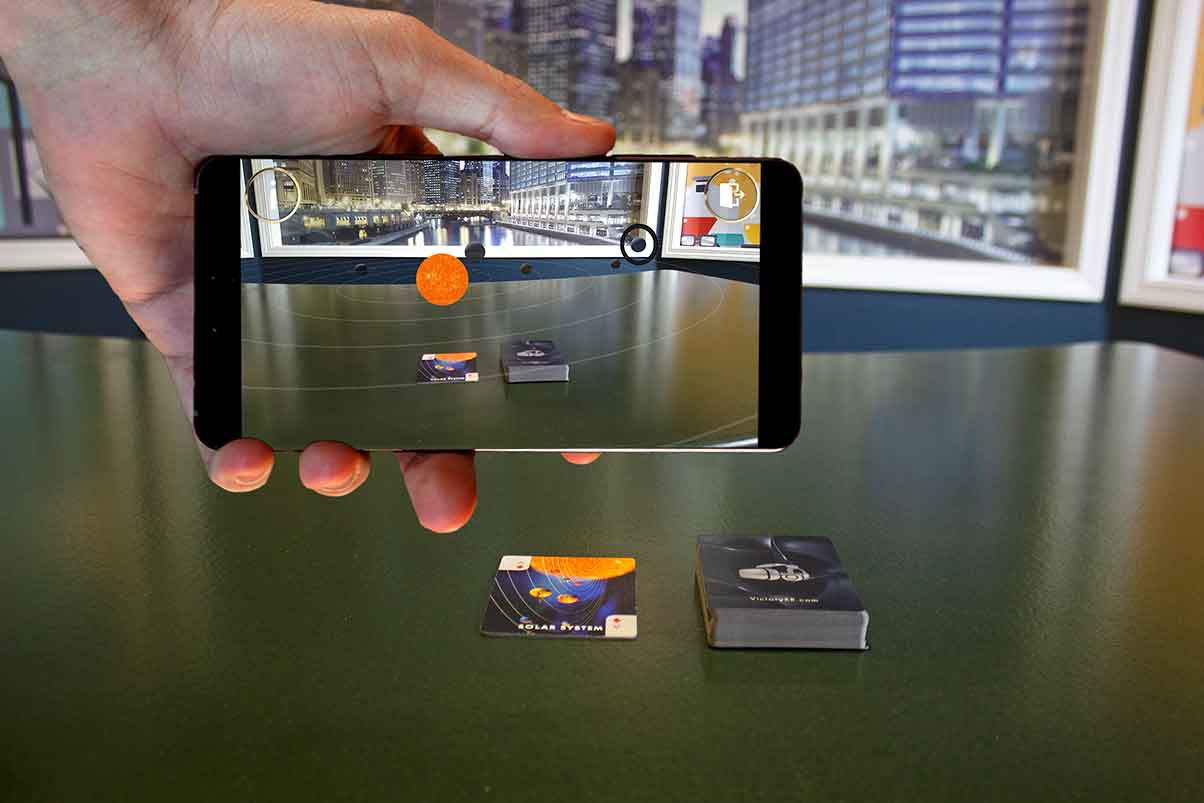 VictoryXR Space and Planets Augmented Reality Cards - 10x Classroom Pack