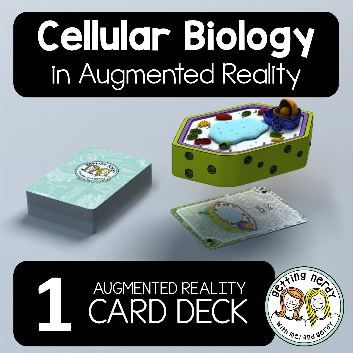 'Getting Nerdy' Cellular Biology Augmented Reality Card Deck