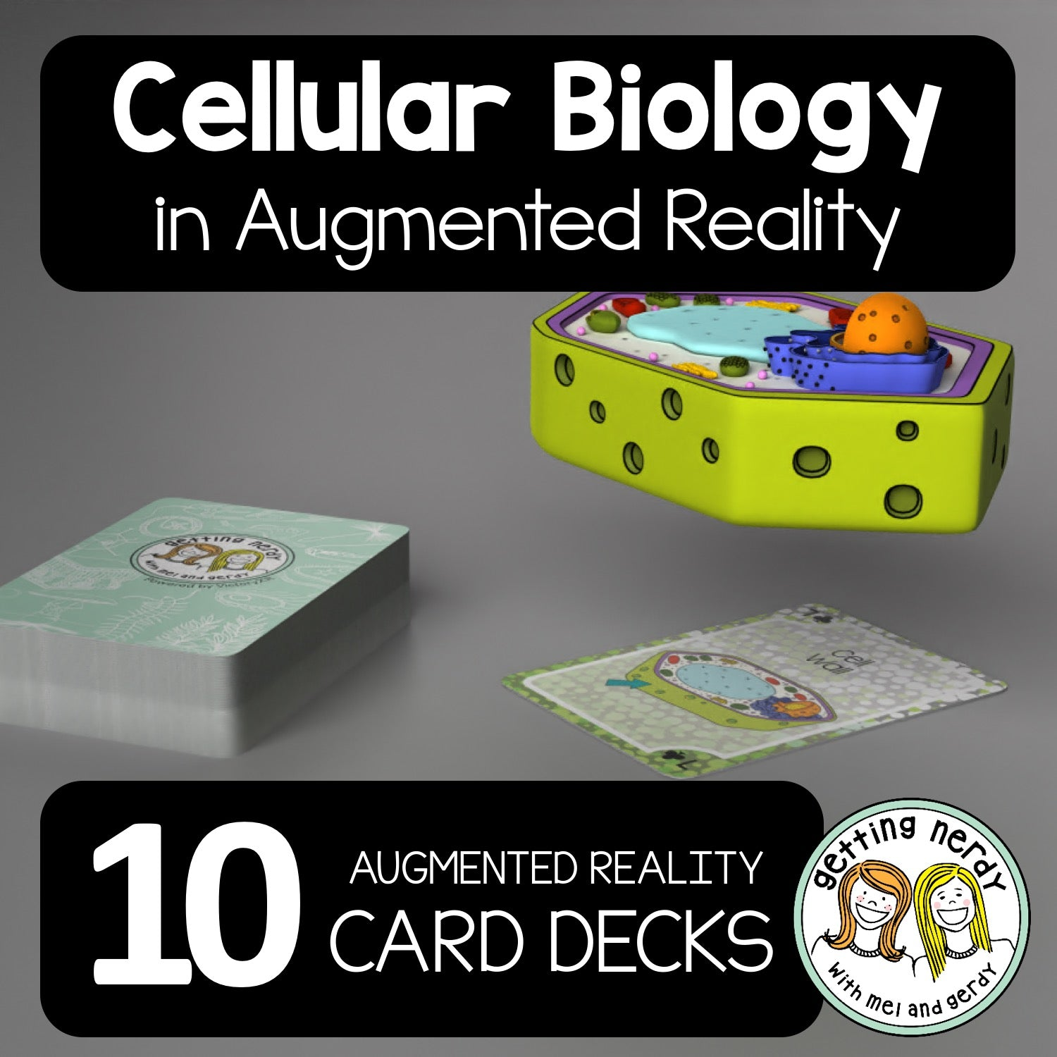 'Getting Nerdy' Cellular Biology Augmented Reality Card Deck - 10X Bundle