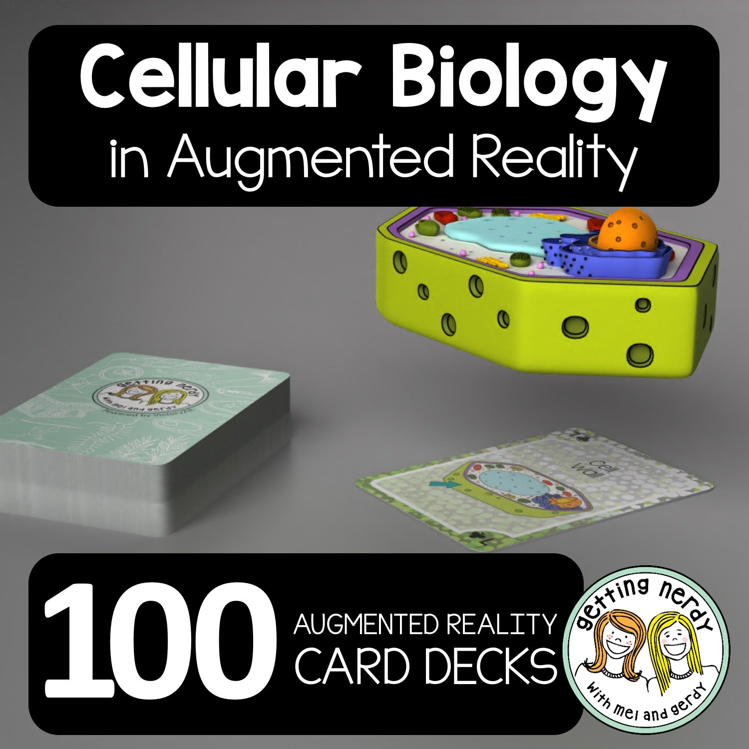 'Getting Nerdy' Cellular Biology Augmented Reality Card Deck - 100X Bundle